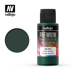 Premium Verde oscuro. Premium Airbrush Color. Bote 60 ml. Marca Vallejo. Ref: 62014.