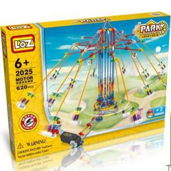 Park Loz Sillas Voladoras, con motor, 620 piezas. Kit construction blocks. Marca Loz. Ref: 2025.
