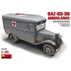 GAZ-03-30 AMBULANCE. Escala 1:35. Marca Miniart. Ref: 35160.
