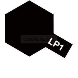 Lacquer paint, lacquer black. Bote 10 ml. Marca Tamiya. Ref: LP-1( LP1 ).