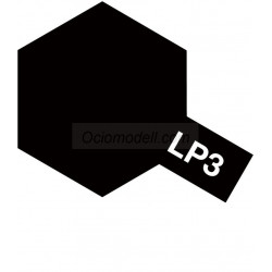 Lacquer paint, lacquer flat black . Bote 10 ml. Marca Tamiya. Ref: LP-3( LP3).