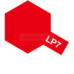 Lacquer paint, lacquer pure red. Bote 10 ml. Marca Tamiya. Ref: LP-7 ( LP7).