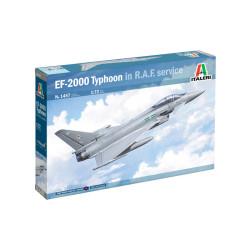 EF-2000 Typhoon monoplaza In R.A.F. Service. Escala 1:72. Marca Italeri. Ref: 1457.