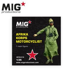 Afrika korps motorcyclist. Escala 1:35. Marca Mig productions. Ref: MP35-319.