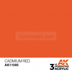 Acrílicos de 3rd General, CADMIUM RED  – STANDARD. Bote 17 ml. Marca Ak-Interactive. Ref: Ak11085.