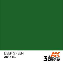 Acrílicos de 3rd Generación,  DEEP GREEN – STANDARD. Bote 17 ml. Marca Ak-Interactive. Ref: Ak11142.
