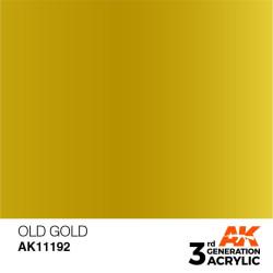 Acrílicos de 3rd Generación,  OLD GOLD – METALIC. Bote 17 ml. Marca Ak-Interactive. Ref: Ak11192.