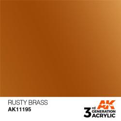 Acrílicos de 3rd Generación,  RUSTY BRASS– METALIC. Bote 17 ml. Marca Ak-Interactive. Ref: Ak11195.
