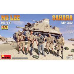 M3 Lee Mid Prod., Sahara with crew. Escala 1:35. Marca Miniart. Ref: 35274.