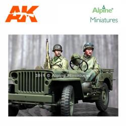 WWII US Jeep Crew Set (2 figs). Escala 1:35. Marca Alpine MIniatures. Ref: 35262.