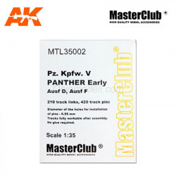 Tracks for Kpfw.V Panther Early, Ausf D / F. Escala 1:35. Marca Def.Model. Ref: MTL35002.