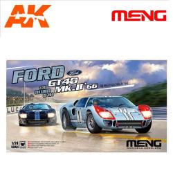 Team Shelby American Ford GT40 Mk.II, 1966 Le Mans 24h. Escala 1:24. Marca Meng. Ref: CS-004.