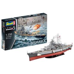 Battleship Bismarck. Escala: 1:350. Marca: Revell. Ref: 05040.