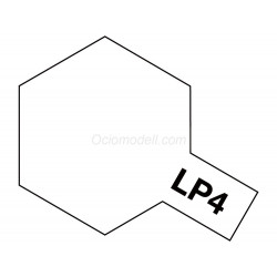 Lacquer paint, lacquer flat white  . Bote 10 ml. Marca Tamiya. Ref: LP-4( LP4).