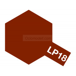 Lacquer paint, dull red. Bote 10 ml. Marca Tamiya. Ref: LP-18( LP18).