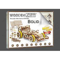 Bolid, madera contrachapada, Kit de montaje. Marca Wooden City. Ref: 57326.