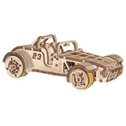Coche Roadster, madera contrachapada, Kit de montaje. Marca Wooden City. Ref: 57337.