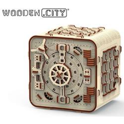 Safe, madera contrachapada, Kit de montaje. Marca Wooden City. Ref: 57322.