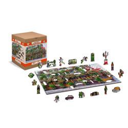 Pub London, Puzzle de madera con piezas de doble cara. 150 pz. Marca Wooden City. Ref: BR0010M.