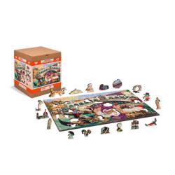 Venice Carnival, Puzzle de madera con piezas de doble cara. 150 pz. Marca Wooden City. Ref: IT0029M.