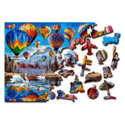 Peaceful Travelling, Puzzle de madera con piezas de doble cara. 75 pz. Marca Wooden City. Ref: TR0011-S.