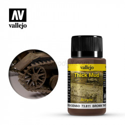 Weathering effects, Thick Mud (Barro Marrón). Bote de 40 ml. Marca Vallejo. Ref: 73.811.