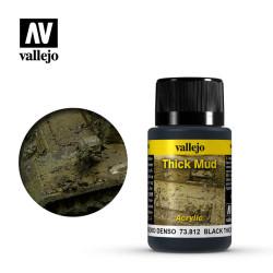 Weathering effects, Thick Black Mud (Barro Negro). Bote de 40 ml. Marca Vallejo. Ref: 73.812.