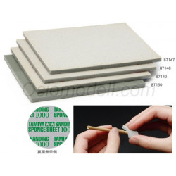 Sanding Sponge Sheet 1500g. 1 unidad. Marca Tamiya. Ref: 87150.