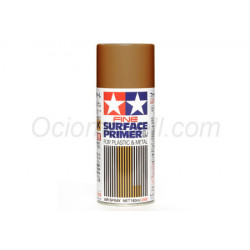 Spray Surface Primer Oxide red ,L. Para plástico y metal. Bote 180 ml. Marca Tamiya. Ref: 87160.