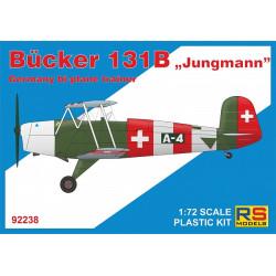 Bucker Bu-131 B 5 v. para Suiza, Bulgaria, Luftw., España, Finlandia. Escala 1:72. Marca RSmodels. Ref: 92238.