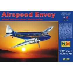 Airspeed Envoy, calcomanía Lynx IV C 4 v. para Japón, España Nat., Australia. Escala 1:72. Marca RSmodels. Ref: 92102.