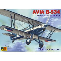 "Czechoslovakian biplane Avia B-534 ""Special markings"". Escala 1:72. Marca RSmodels. Ref: 92080."
