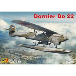 Dornier Do 22, 4 calcas para Croacia y Grecia. Escala 1:72. Marca RSmodels. Ref: 92245.