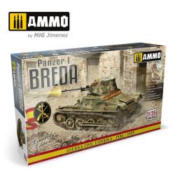 Panzer I Breda, Guerra Civil Española 1936 - 1939. Escala 1:35. Marca Ammo of Mig Jimenez. Ref: AMIG8506.