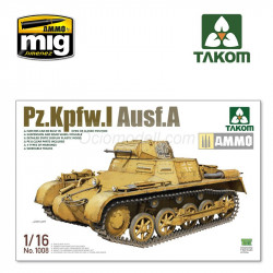 Pz.Kpfw.I Ausf.A. Escala 1:16. Marca Takom. Ref: 1008.