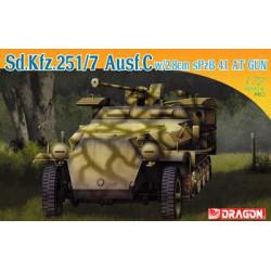 Sd.Kfz.251/7 Ausf.C w/2.8cm Spzb 41 AT Gun. Escala 1:72. Marca Dragon. Ref: 7315.