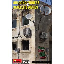 AIR CONDITIONERS & SATELLITE DISHES. Escala 1:35. Marca Miniart. Ref: 35638