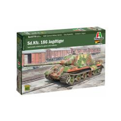 Sd.Kfz. 186 Jagdtiger. Escala 1:56. Marca Italeri. Ref: 15770.
