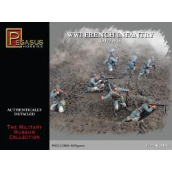 French Infantry WWI. Escala 1:72. Marca Pegasus. Ref: PG7199.