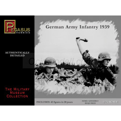 German Infantry 1939. Escala 1:76. Marca Pegasus. Ref: PG7499.