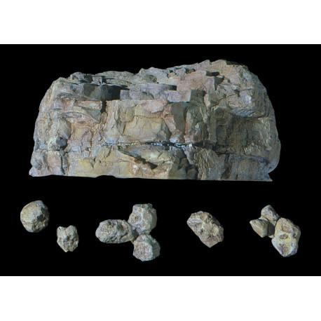 Molde de rocas para realizar en escayola o yeso, Ref: C1236.