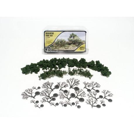 Kit de montaje de 21 arboles de hoja caduca, Ref: TR1111