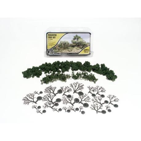Kit de montaje de 21 arboles de hoja caduca, Ref: TR1112