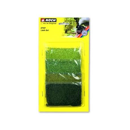 Surtido de follaje, cuatro colores, gama de verdes Noch, Ref: 07167