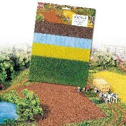 Campos, Lagos, cultivos, pradera, 4 placas, Marca Busch, Ref: 7175.
