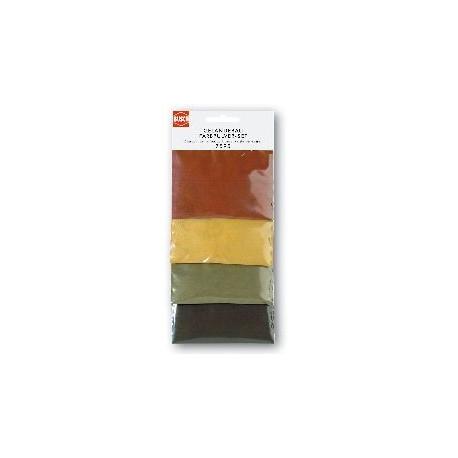 Lote de cuatro pigmentos de color tierra, Marca Busch, Ref: 7595.