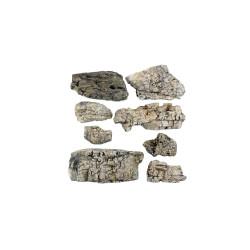 Rocas prefabricadas de yeso y pintados a mano, Ref: C1137.