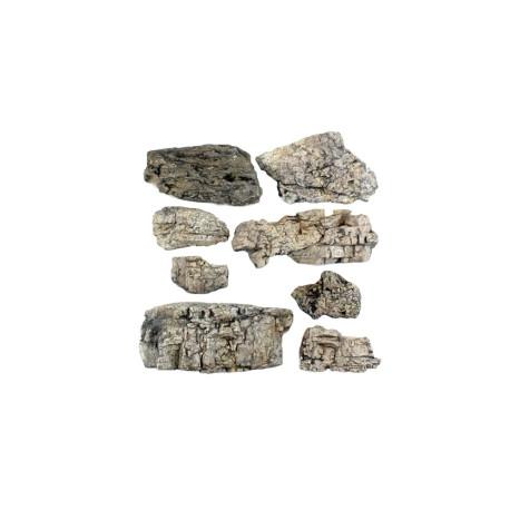Rocas prefabricadas de yeso y pintados a mano, Ref: C1137