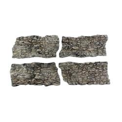 Rocas prefabricadas de yeso y pintados a mano, Ref: C1138.