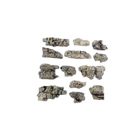 Rocas prefabricadas de yeso y pintados a mano, Ref: C1139